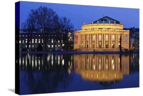 Staatstheater (Stuttgart Theatre and Opera House) at Night-Markus Lange-Stretched Canvas Print