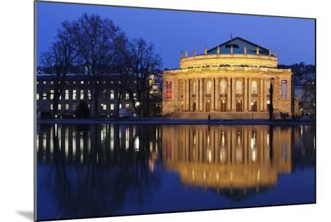 Staatstheater (Stuttgart Theatre and Opera House) at Night-Markus Lange-Mounted Photographic Print