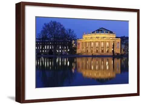 Staatstheater (Stuttgart Theatre and Opera House) at Night-Markus Lange-Framed Art Print