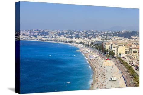 Baie Des Anges and Promenade Anglais-Amanda Hall-Stretched Canvas Print