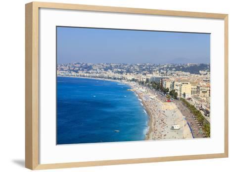 Baie Des Anges and Promenade Anglais-Amanda Hall-Framed Art Print