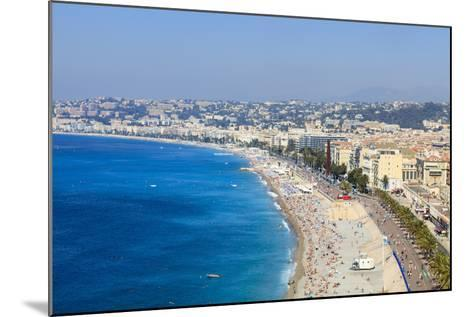 Baie Des Anges and Promenade Anglais-Amanda Hall-Mounted Photographic Print