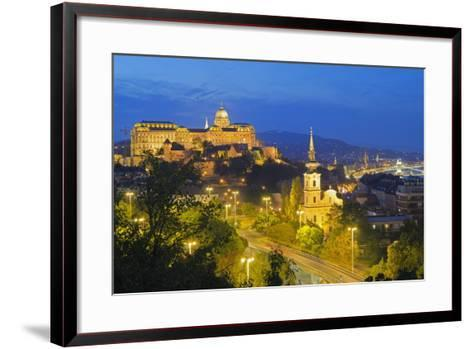 Royal Palace, Banks of the Danube, UNESCO World Heritage Site, Budapest, Hungary, Europe-Christian Kober-Framed Art Print