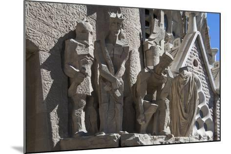 Tableaux in Carved Stone Near the Entrance to Sagrada Familia, Barcelona, Catalunya, Spain, Europe-James Emmerson-Mounted Photographic Print