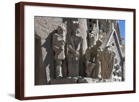 Tableaux in Carved Stone Near the Entrance to Sagrada Familia, Barcelona, Catalunya, Spain, Europe-James Emmerson-Framed Art Print