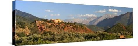 The Hotel Kasbah Bab Ourika, Ourika Valley, Atlas Mountains, Morocco, North Africa, Africa-Stuart Black-Stretched Canvas Print