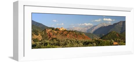 The Hotel Kasbah Bab Ourika, Ourika Valley, Atlas Mountains, Morocco, North Africa, Africa-Stuart Black-Framed Art Print