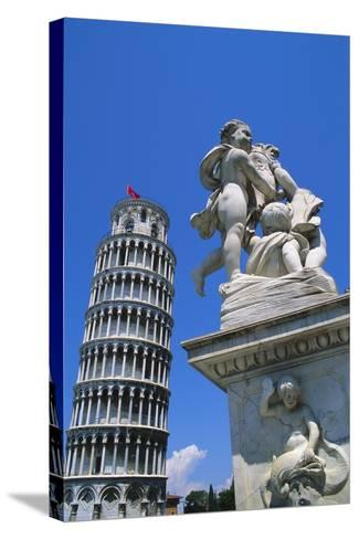 Leaning Tower of Pisa, Pisa, Italy-Hans Peter Merten-Stretched Canvas Print