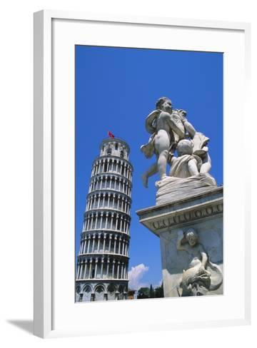 Leaning Tower of Pisa, Pisa, Italy-Hans Peter Merten-Framed Art Print