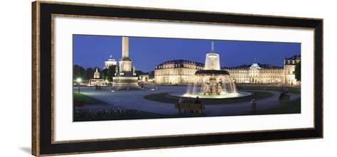 Schlossplatz Square and Neues Schloss Castle, Stuttgart, Baden Wurttemberg, Germany, Europe-Markus Lange-Framed Art Print