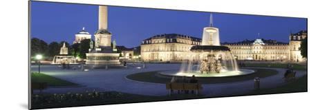 Schlossplatz Square and Neues Schloss Castle, Stuttgart, Baden Wurttemberg, Germany, Europe-Markus Lange-Mounted Photographic Print