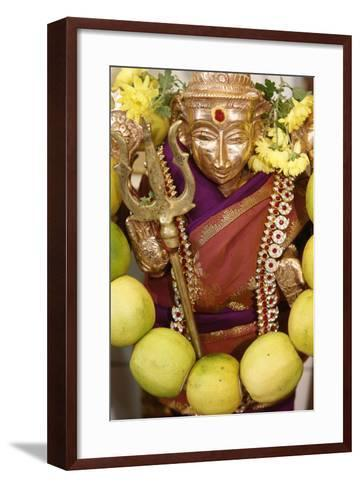 The Hindu Goddess Durga at Diwali Celebration at the Paris Ganesh Temple, Paris, France, Europe-Godong-Framed Art Print