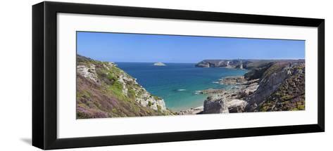 Cliffs of Cap Frehel, Cotes D'Armor, Brittany, France, Europe-Markus Lange-Framed Art Print