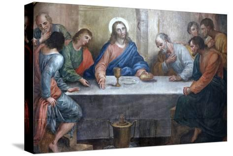Last Supper Painting in Our Lady of Bonfim Church, Salvador, Bahia, Brazil, South America-Godong-Stretched Canvas Print