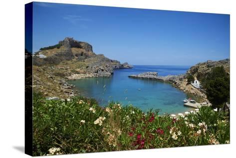 St. Paul Beach. Lindos, Rhodes, Dodecanese, Greek Islands, Greece, Europe-Tuul-Stretched Canvas Print