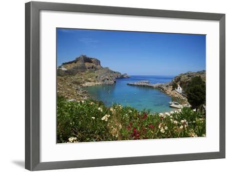St. Paul Beach. Lindos, Rhodes, Dodecanese, Greek Islands, Greece, Europe-Tuul-Framed Art Print
