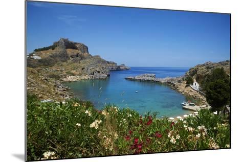 St. Paul Beach. Lindos, Rhodes, Dodecanese, Greek Islands, Greece, Europe-Tuul-Mounted Photographic Print