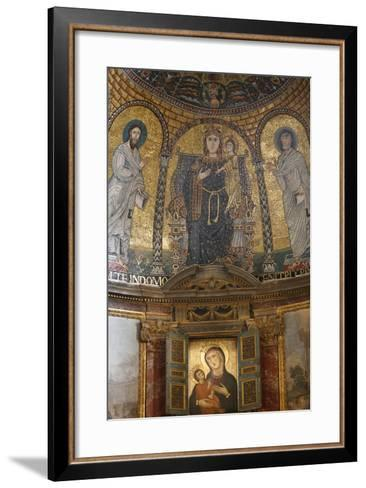 Mosaic of Mary and Jesus, Santa Francesca Romana Church, Rome, Lazio, Italy, Europe-Godong-Framed Art Print