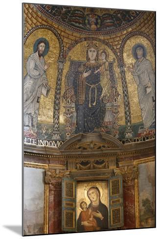 Mosaic of Mary and Jesus, Santa Francesca Romana Church, Rome, Lazio, Italy, Europe-Godong-Mounted Photographic Print