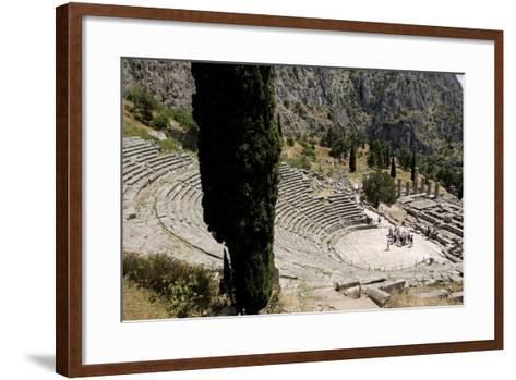 The Ancient Theater, Delphi, UNESCO World Heritage Site, Peloponnese, Greece, Europe-Jean-Pierre De Mann-Framed Art Print