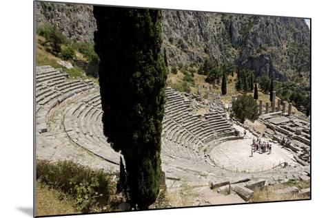 The Ancient Theater, Delphi, UNESCO World Heritage Site, Peloponnese, Greece, Europe-Jean-Pierre De Mann-Mounted Photographic Print