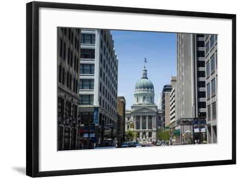 Indiana Statehouse, the State Capitol Building, Indianapolis-Michael Runkel-Framed Art Print