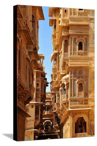 Patwa Havelis, Renowned Private Mansion in Jaisalmer, Rajasthan, India, Asia-Godong-Stretched Canvas Print