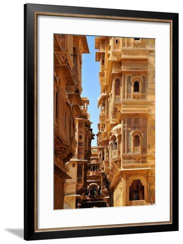 Patwa Havelis, Renowned Private Mansion in Jaisalmer, Rajasthan, India, Asia-Godong-Framed Art Print