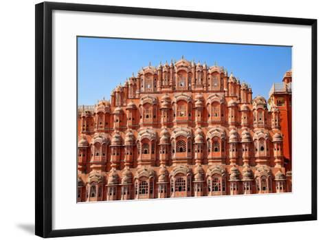 Hawa Mahal (Palace of Winds), Built in 1799, Jaipur, Rajasthan, India, Asia-Godong-Framed Art Print