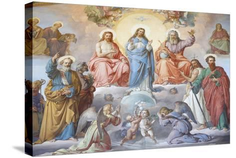 God, Jesus and Mary, Vatican Museum, Vatican, Rome, Lazio, Italy, Europe-Godong-Stretched Canvas Print