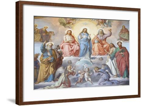God, Jesus and Mary, Vatican Museum, Vatican, Rome, Lazio, Italy, Europe-Godong-Framed Art Print