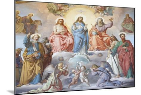 God, Jesus and Mary, Vatican Museum, Vatican, Rome, Lazio, Italy, Europe-Godong-Mounted Photographic Print