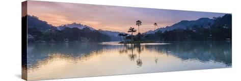 Kandy Lake and the Island at Sunrise, Kandy, Central Province, Sri Lanka, Asia-Matthew Williams-Ellis-Stretched Canvas Print