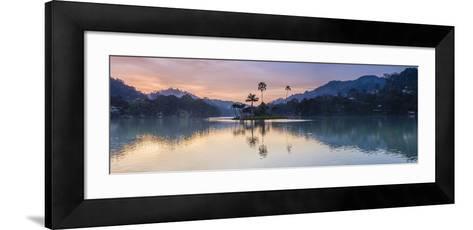 Kandy Lake and the Island at Sunrise, Kandy, Central Province, Sri Lanka, Asia-Matthew Williams-Ellis-Framed Art Print