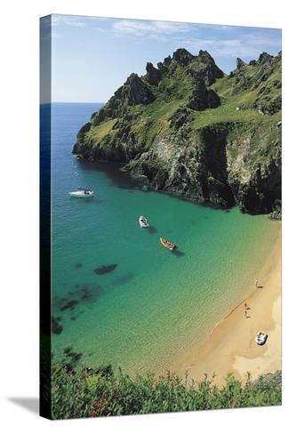Devon Coast, England, United Kingdom-Duncan Maxwell-Stretched Canvas Print