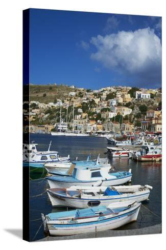 Gialos Harbour, Symi Island, Dodecanese, Greek Islands, Greece, Europe-Tuul-Stretched Canvas Print