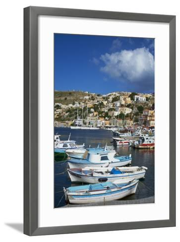 Gialos Harbour, Symi Island, Dodecanese, Greek Islands, Greece, Europe-Tuul-Framed Art Print