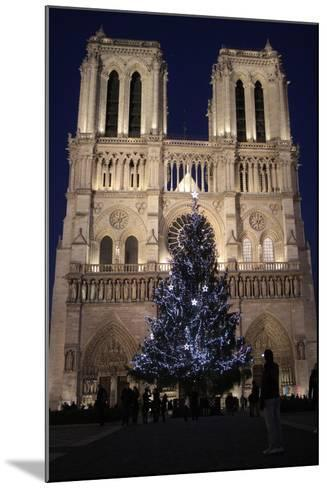 Christmas Tree, Notre-Dame De Paris Cathedral, Paris, France, Europe-Godong-Mounted Photographic Print