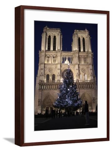 Christmas Tree, Notre-Dame De Paris Cathedral, Paris, France, Europe-Godong-Framed Art Print