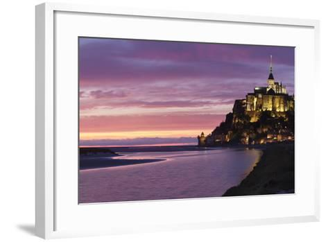Mont Saint Michel, UNESCO World Heritage Site, Manche, Basse Normandy, France, Europe-Markus Lange-Framed Art Print