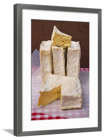 Slices of Pont L'Eveque Cheese-Guy Thouvenin-Framed Art Print