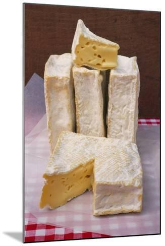 Slices of Pont L'Eveque Cheese-Guy Thouvenin-Mounted Photographic Print