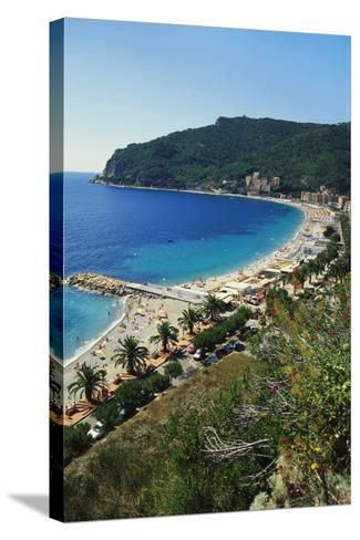 Beach Resort in Liguria, Italy-Sheila Terry-Stretched Canvas Print