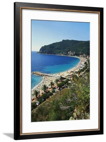 Beach Resort in Liguria, Italy-Sheila Terry-Framed Art Print