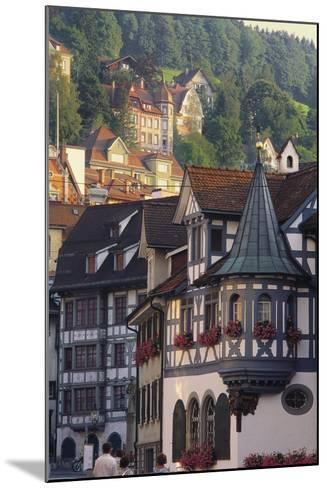 Tudor Exterior of Buildings in Town of St Gallen in Switzerland-John Miller-Mounted Photographic Print