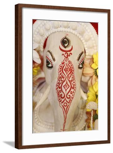 Statue of Hindu God Ganesh, Paris, France, Europe-Godong-Framed Art Print