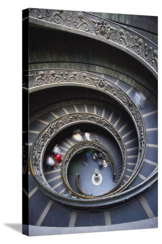 Spiral Staircase, Vatican Musuem, Rome, Italy-Adam Woolfitt-Stretched Canvas Print
