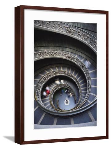 Spiral Staircase, Vatican Musuem, Rome, Italy-Adam Woolfitt-Framed Art Print
