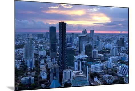 View over Bangkok at Sunset from the Vertigo Bar on the Roof the Banyan Tree Hotel-Lee Frost-Mounted Photographic Print