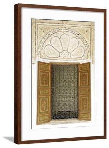Engraved Wood Decor in Alaouite Palace of Dar Si Said-Guy Thouvenin-Framed Art Print